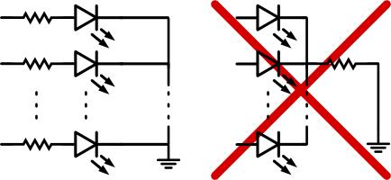 Теория. Светодиодные сборки. Токоограничивающие резисторы