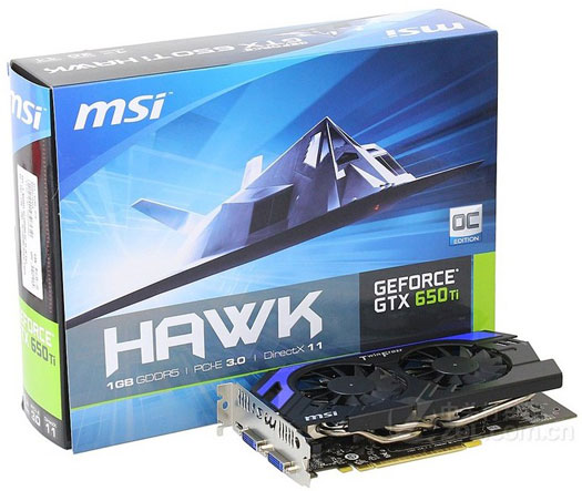 MSI GeForce GTX 650 Ti Hawk