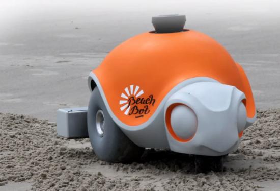 Забавный робот Beach Bot от Disney рисует картинки на пляже